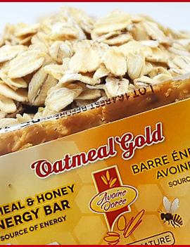 Oatmeal Gold - Avoine Doree Avoine Doree - Oatmeal Gold - Oatmeal & Honey Energy Bar - Natural - 100g