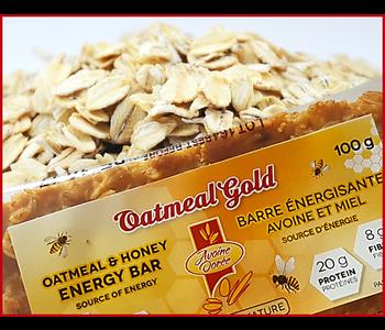 Avoine Doree - Oatmeal Gold - Oatmeal & Honey Energy Bar - Natural - 100g