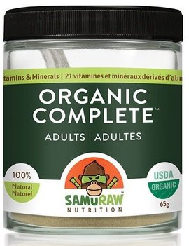 Samuraw Nutrition Inc. Samuraw - Organic Complete Adult Multivitamin - 65 g
