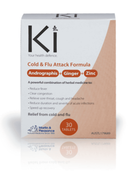 Ki - Martin & Pleasance Ki - Cold & Flu Attack Formula - 30 Tablets