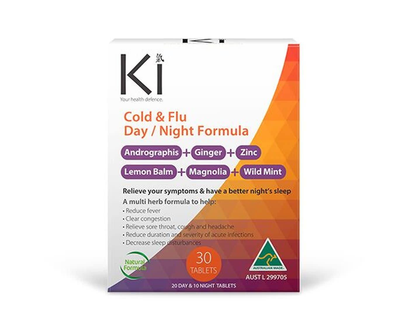 Ki - Martin & Pleasance Ki - Cold & Flu - Day & Night  - 30 tabs