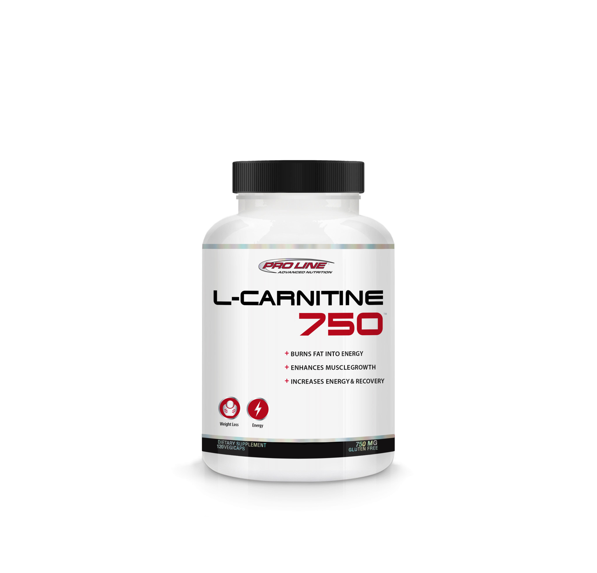 Pro Line - L-Carnitine 750mg - 120 Vegi Caps