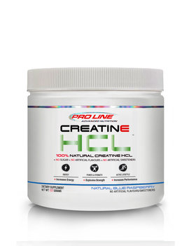Pro Line - Creatine HCL - Natural Blue Raspberry  - 120g