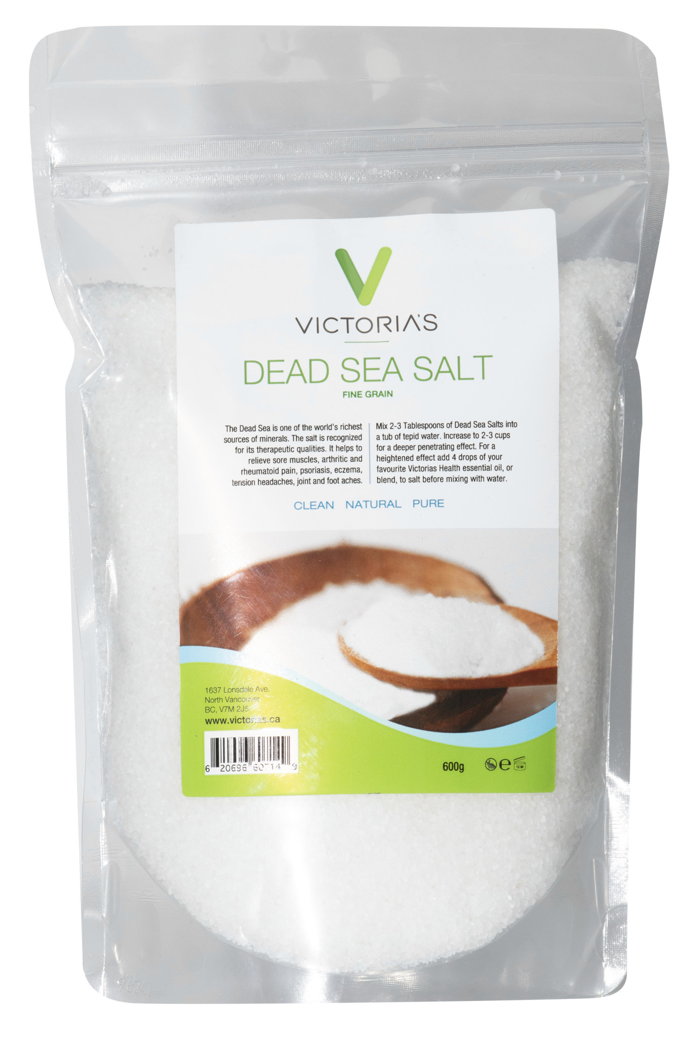 Victoria's Health House Brand Victoria's - Dead Sea Salt - Fine Grain - 600g