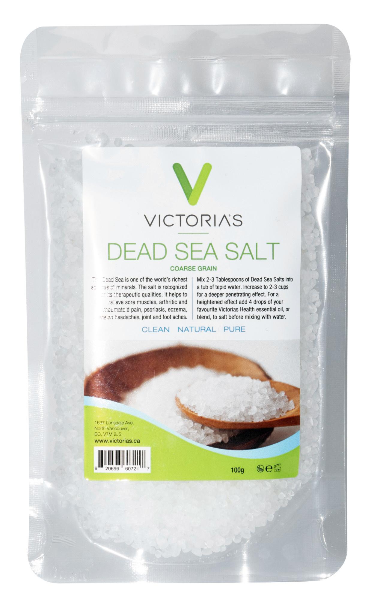 Victoria's Health House Brand Victoria's - Dead Sea Salt - Fine Grain - 100g