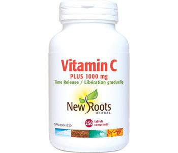 New Roots - Vitamin C Plus 1000mg Time Release - 250 Tablets