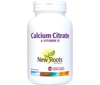New Roots - Calcium Citrate & Vitamin D - 150 Vegi Caps