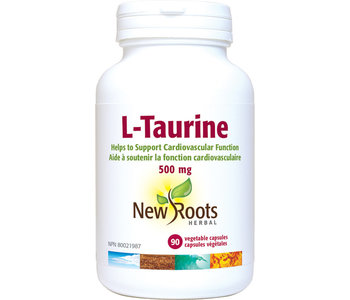 New Roots - L-Taurine 500mg - 90 Vegi Caps