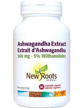New Roots New Roots - Ashwagandha Extract 500mg - 60 Vegi Caps