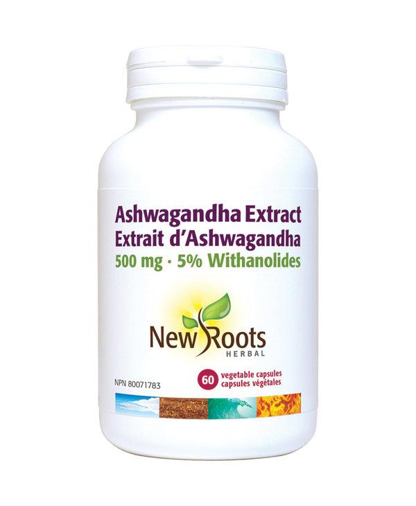 New Roots - Ashwagandha Extract 500mg - 60 Vegi Caps