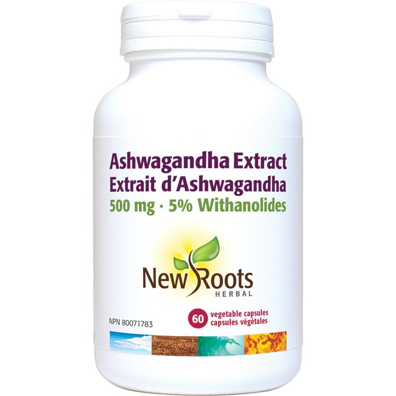 New Roots New Roots - Ashwagandha Extract 500mg - 60 Vegi Caps