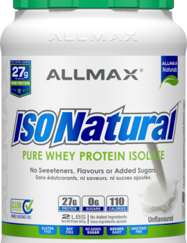 Allmax Nutrition Allmax - IsoNatural - Whey Protein Isolate - Unflavoured - 2lbs