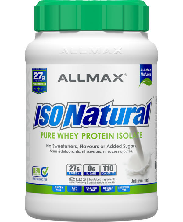 Allmax - IsoNatural - Whey Protein Isolate - Unflavoured - 2lbs