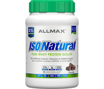 Allmax - IsoNatural - Whey Protein Isolate - Chocolate - 2lbs