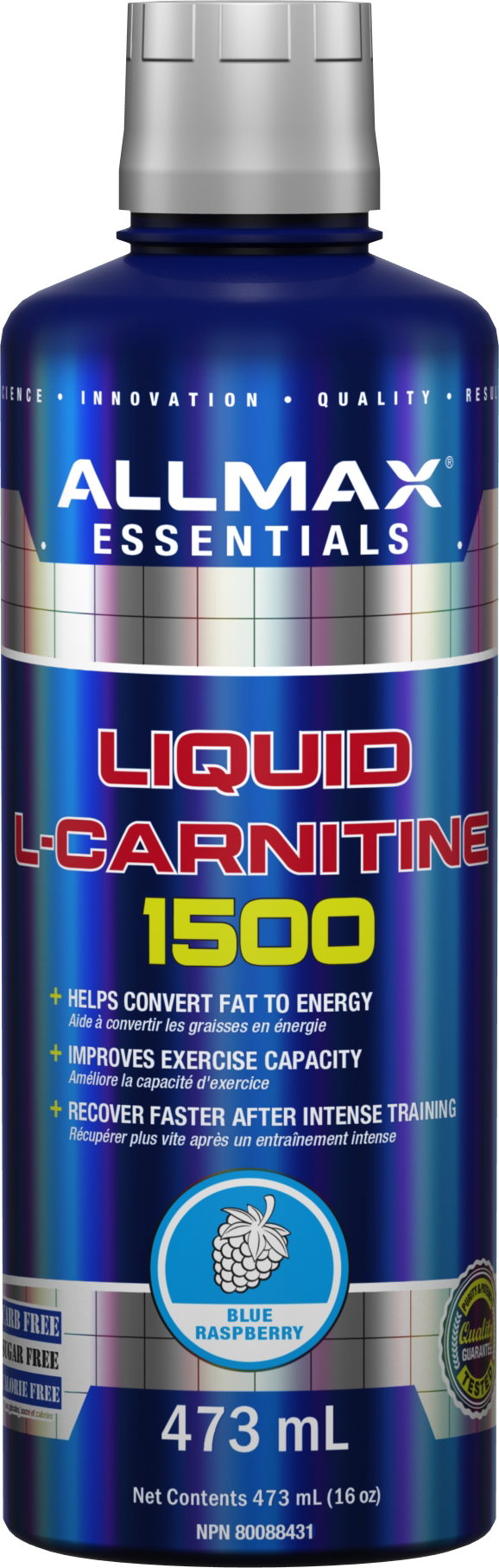 Allmax Nutrition Allmax - Liquid L-Carnitine 1500 - Blue Raspberry - 473ml