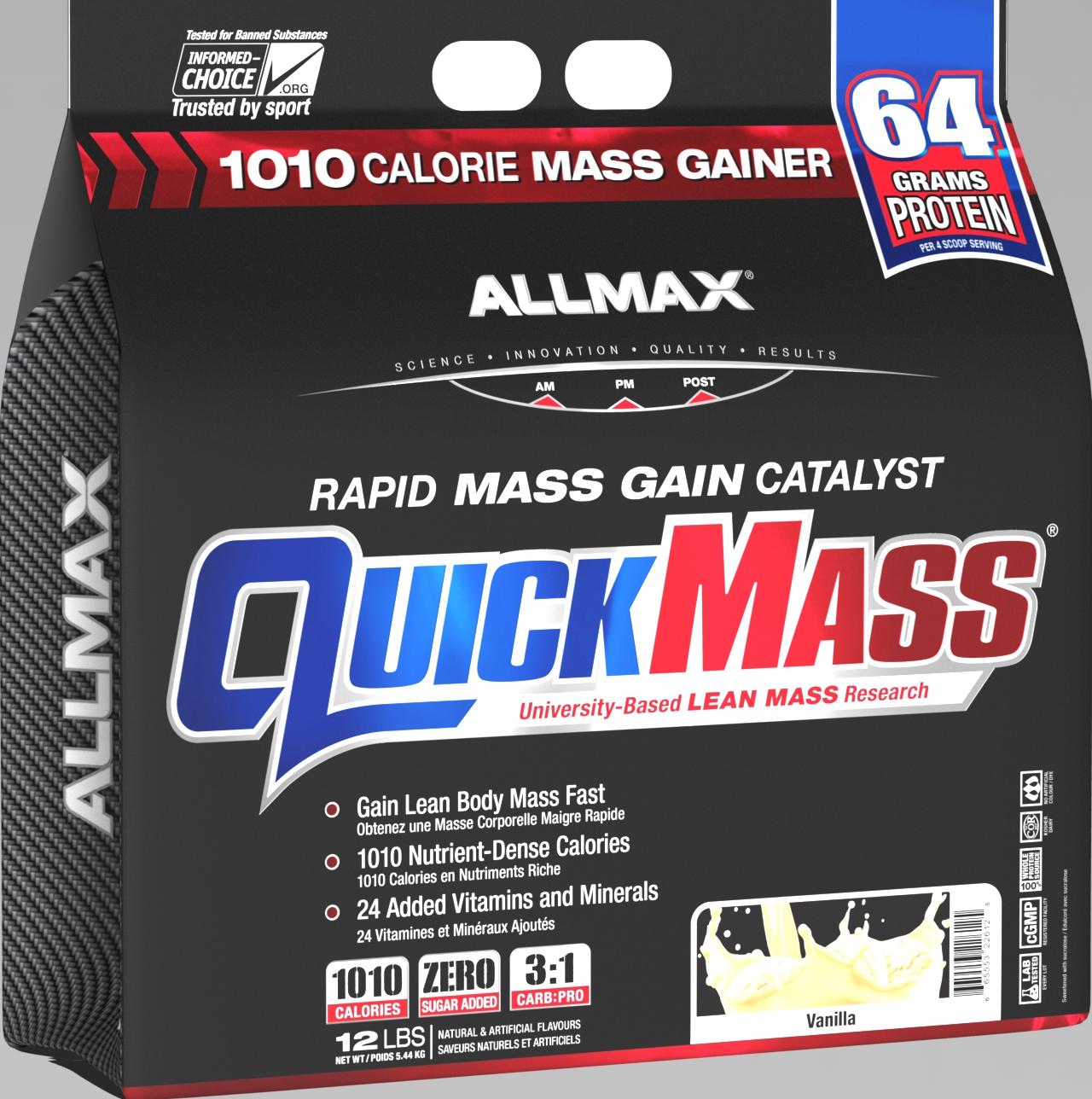 Allmax Nutrition Allmax - Quickmass - Vanilla - 12lbs