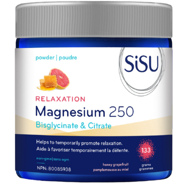 SISU SiSU - Relaxation Magnesium 250 - Honey Grapefruit - 133 grams