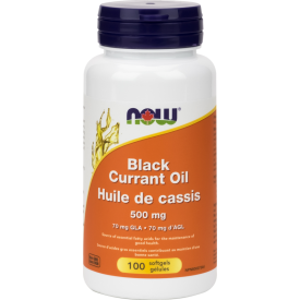 Now Now - Black Currant Oil  500 mg - 100 SG