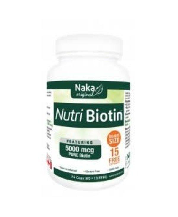 Naka - Nutri Biotin 5000 mcg - 75 caps