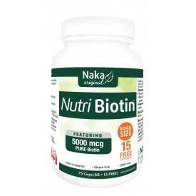 Naka Naka - Nutri Biotin 5000 mcg - 75 caps