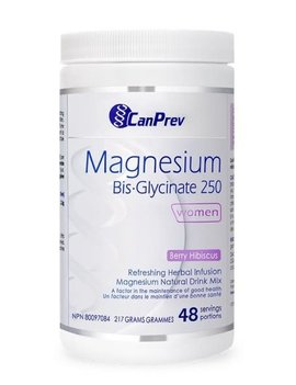 CanPrev - Canadian CanPrev - Magnesium Bis-Glycinate 250 - Women - Berry Hibiscus 217g