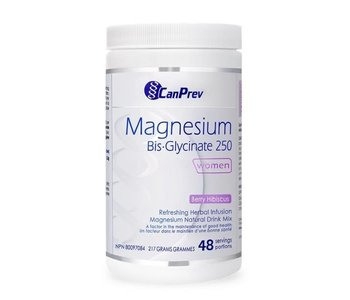 CanPrev - Magnesium Bis-Glycinate 250 - Women - Berry Hibiscus 217g