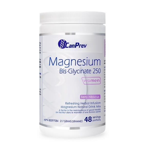CanPrev - Canadian CanPrev - Magnesium Bis-Glycinate 250 - Women - Berry Hibiscus 217g