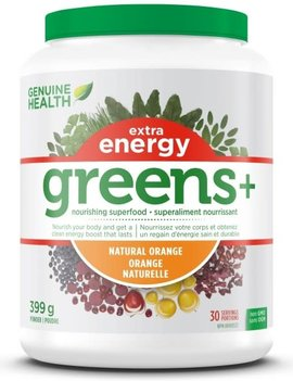 Genuine Health Genuine Health - Greens+ Extra Energy - Natural Orange - 399g