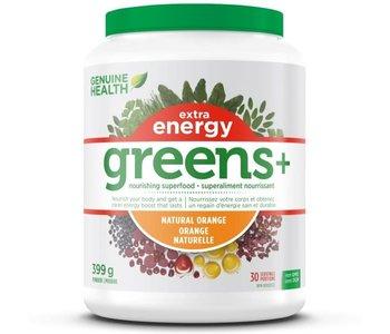 Genuine Health - Greens+ Extra Energy - Natural Orange - 399g
