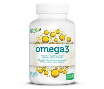 Genuine Health - Omega 3 - 120 SG