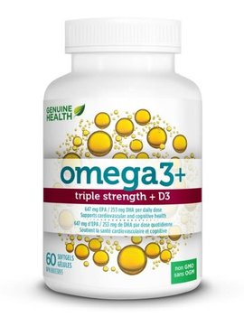 Genuine Health Genuine Health - Omega 3 Triple Strength + D3 - 60 SG