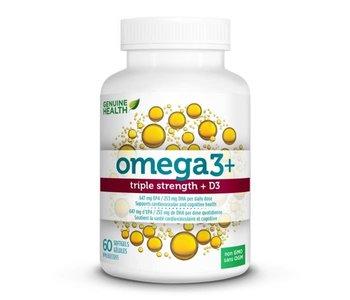 Genuine Health - Omega 3 Triple Strength + D3 - 60 SG