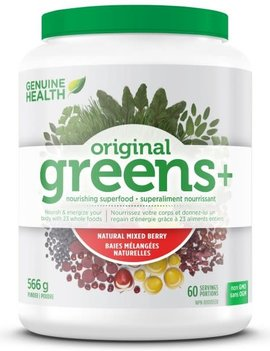 Genuine Health Genuine Health - Greens+ Original - Natural Mixed Berry - 566g