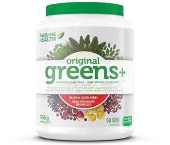 Genuine Health - Greens+ Original - Natural Mixed Berry - 566g