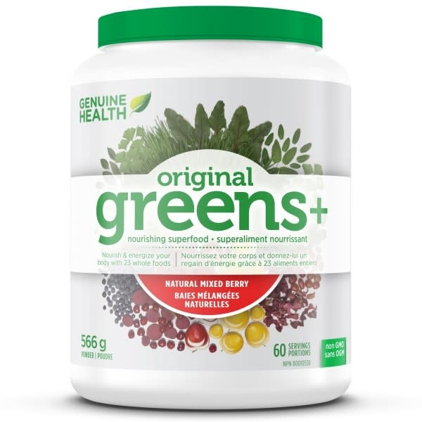 Genuine Health Genuine Health - Greens+ Original - Natural Mixed Berry - 566g