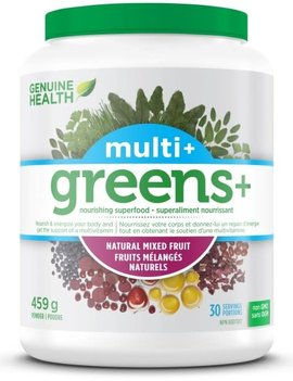 Genuine Health Genuine Health - Greens+ Multi+ - Natural Mixed Fruit - 459g