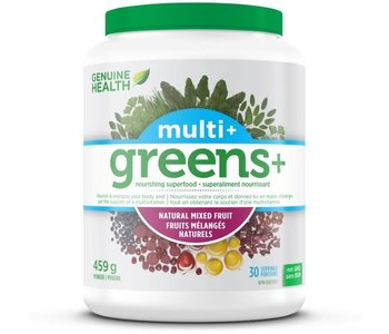 Genuine Health - Greens+ Multi+ - Natural Mixed Fruit - 459g