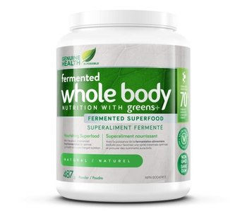 Genuine Health - Fermented Whole Body Nutrition w/ Greens+ - Natural - 487g