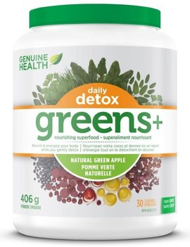 Genuine Health Genuine Health - Greens + Daily Detox Green Apple - 406g