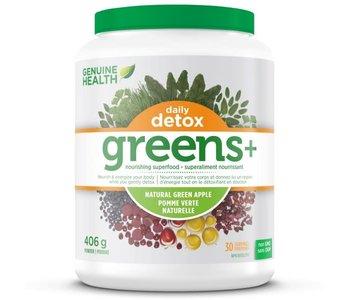 Genuine Health - Greens + Daily Detox Green Apple - 406g