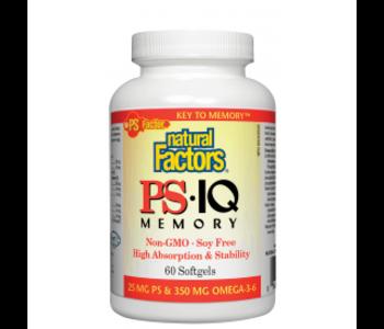 Natural Factors - PS IQ Memory - 60 SG
