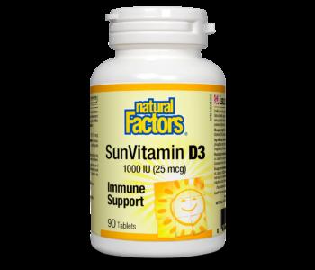 Natural Factors - Vitamin D3 1000 IU - 90 Tabs