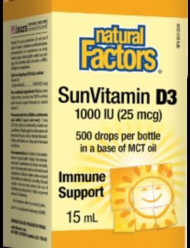 Natural Factors Natural Factors - Vitamin D3 1000 IU - 15ml