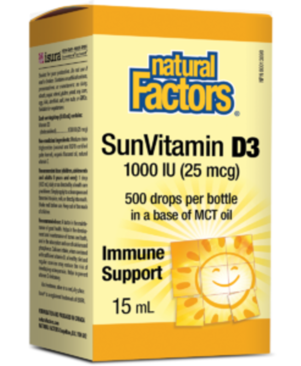 Natural Factors - Vitamin D3 1000 IU - 15ml