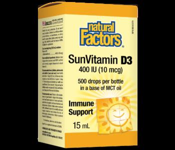 Natural Factors - Vitamin D3 for Kids 400 IU - 500 Drops