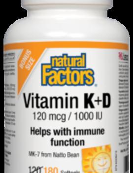 Natural Factors Natural Factors - Vitamin K & D - 180 SG BONUS Size