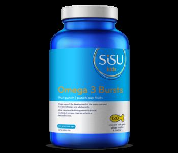 Sisu - Omega 3 Bursts - Fruit Punch - 120 Fish-Shaped Chewable Caps