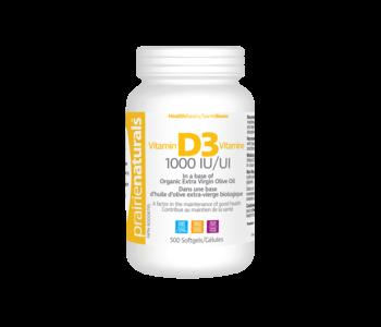 Prairie Naturals - Vitamin D3  1000 IU - 500 SG