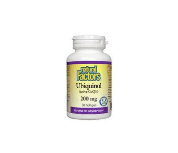 Natural Factors - Ubiquinol QH Active CoQ10 200 mg - 30 SG