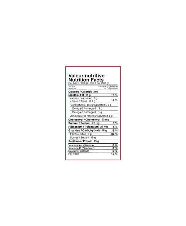 Avoine Doree - Oatmeal Gold - Oatmeal & Honey Energy Bar - Banana Carob - 100g